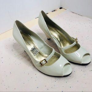 Paton leather wedge heel